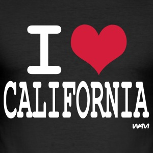 Nero i love california by wam T-shirt - Maglietta aderente da uomo