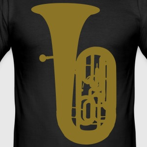 music tuba brass T-shirts - Herre Slim Fit T-Shirt