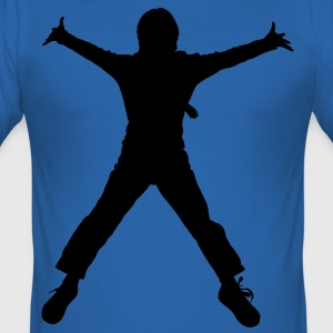 breakdance dance music people T-shirt - Maglietta aderente da uomo