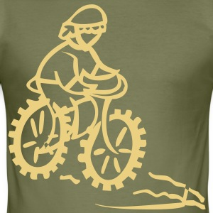 bike cycle cycling logo sport bicycle T-shirt - Maglietta aderente da uomo