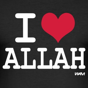 Zwart i love allah by wam T-shirts - slim fit T-shirt