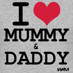 Grijs gespikkeld i love mummy and daddy by wam T-shirts - slim fit T-shirt