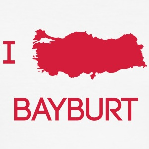 I Love BAYBURT T-Shirts - Männer Slim Fit T-Shirt