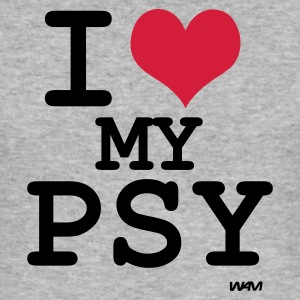 Gråmelert i love my psy by wam T-skjorter - Slim Fit T-skjorte for menn