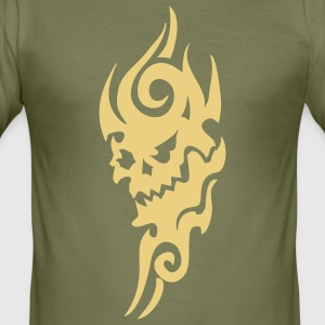 tribal tattoo skull T-shirts - slim fit T-shirt