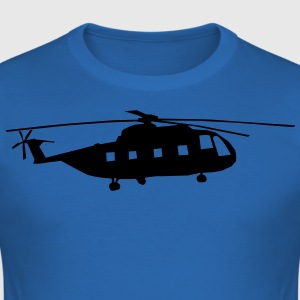 helicopter kids military rc T-shirts - Herre Slim Fit T-Shirt