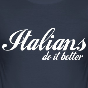 Navy scuro italians do it better T-shirt - Maglietta aderente da uomo