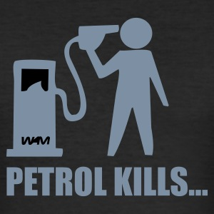Svart petrol kills by wam T-shirts - Slim Fit T-shirt herr