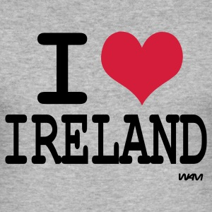 Gråmelerad i love ireland by wam T-shirts - Slim Fit T-shirt herr