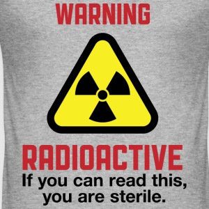 Warning Radioactive 2 (dd)++ T-skjorter - Slim Fit T-skjorte for menn