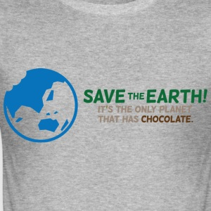 Save The Earth 1 (dd)++ T-shirts - Slim Fit T-shirt herr