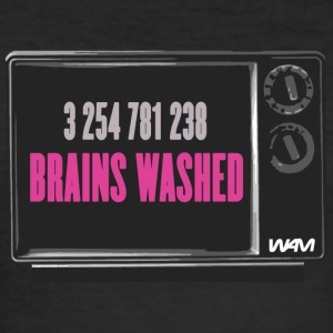 Negro brains washed by wam Camisetas - Camiseta ajustada hombre