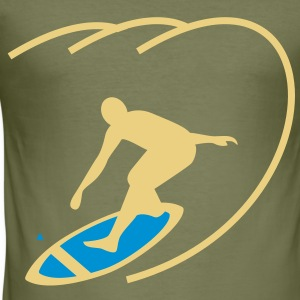 Surfer menn T-skjorte - Slim Fit T-skjorte for menn