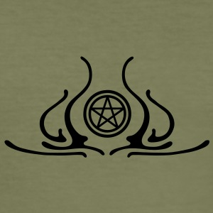 pentagram, five star, pentagram, githic, goth, pagan, witch, wicca, witchcraft, magic T-Shirts - Men's Slim Fit T-Shirt