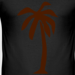 Palm mäns T-shirt - Slim Fit T-shirt herr
