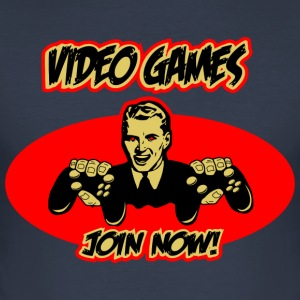 Video Games - join now! T-Shirts - Männer Slim Fit T-Shirt
