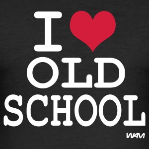 Zwart i love old school by wam T-shirts - slim fit T-shirt