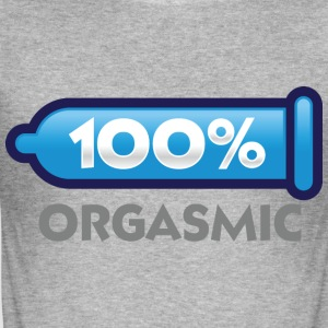 100 Orgasmic 2 (dd)++ T-shirts - Slim Fit T-shirt herr