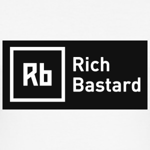 White Rich Bastard Men's T-Shirts - Men's Slim Fit T-Shirt