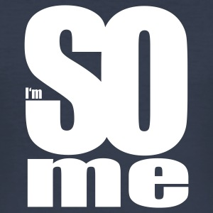 Mörk marinblå i am so me T-shirts - Slim Fit T-shirt herr