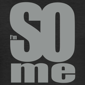 Svart i am so me T-shirts - Slim Fit T-shirt herr