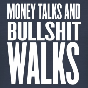 Mörk marinblå money talks bullshit walks T-shirts - Slim Fit T-shirt herr