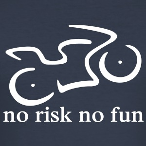 no risk no fun - Männer Slim Fit T-Shirt
