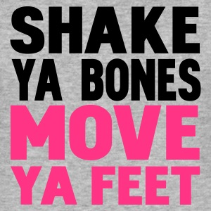 Gråmelerad shake ya bones move ya feet T-shirts - Slim Fit T-shirt herr
