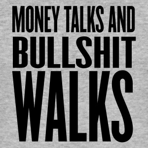 Gråmelerad money talks bullshit walks T-shirts - Slim Fit T-shirt herr