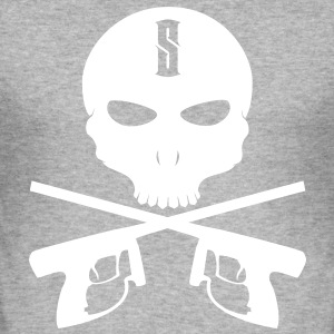 Paintball Skull - Männer Slim Fit T-Shirt
