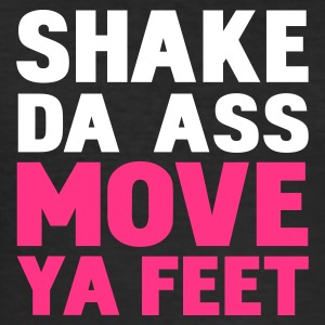 Nero shake da ass move ya feet by wam T-shirt - Maglietta aderente da uomo