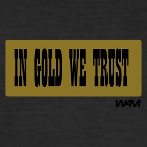 Svart in gold we trust by wam T-skjorter - Slim Fit T-skjorte for menn