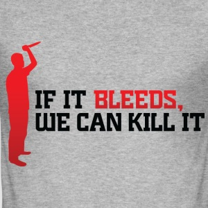 If It Bleeds 1 (dd)++ T-Shirts - Men's Slim Fit T-Shirt