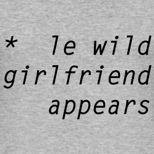 le wild girlfriend appears T-skjorter - Slim Fit T-skjorte for menn