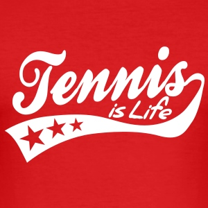 tennis is life - retro Tee shirts - Tee shirt près du corps Homme