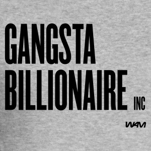Gråmelerad gangsta billionaire by wam T-shirts - Slim Fit T-shirt herr