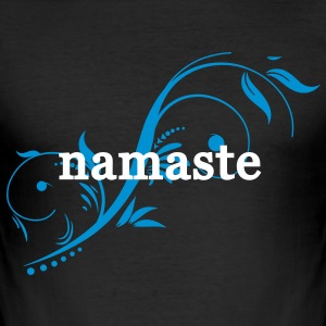 namaste T-shirts - Herre Slim Fit T-Shirt