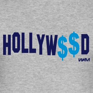 Grijs gespikkeld hollywood money by wam T-shirts - slim fit T-shirt