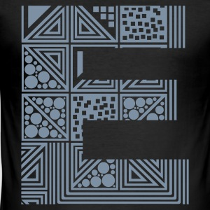 Black Letter E T-Shirts - Men's Slim Fit T-Shirt