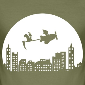 Khaki green Fly T-Shirts - Männer Slim Fit T-Shirt