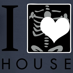 Navy I Love House T-shirts - slim fit T-shirt