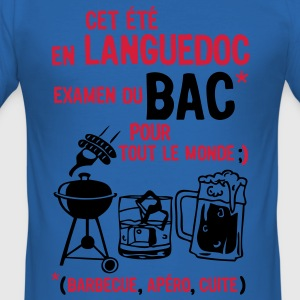 bac languedoc barbecue apero cuite biere Tee shirts - Tee shirt près du corps Homme
