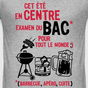 bac centre barbecue apero cuite biere Tee shirts - Tee shirt près du corps Homme