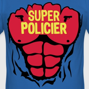 policier super corps muscle bodybuilding Tee shirts - Tee shirt près du corps Homme