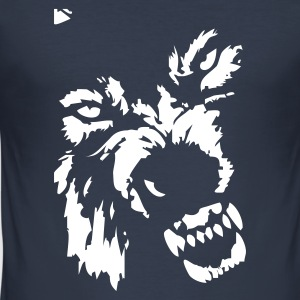 Dark navy Wolf T-Shirts - Männer Slim Fit T-Shirt