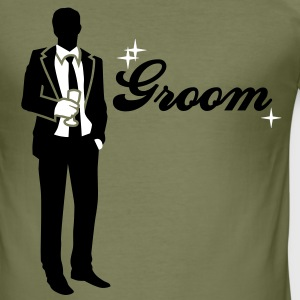 Groom - Team - Bride T-Shirts - Men's Slim Fit T-Shirt
