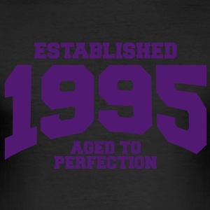 aged to perfection established 1995 (sv) T-shirts - Slim Fit T-shirt herr
