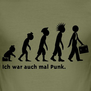 Evolution Business-Punk - Männer Slim Fit T-Shirt