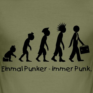 Evolution Businesspunk - Männer Slim Fit T-Shirt