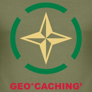 Braun geocaching 2 T-Shirts - Männer Slim Fit T-Shirt